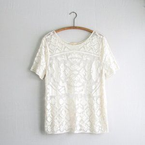 Anthropologie Everleigh lace blouse